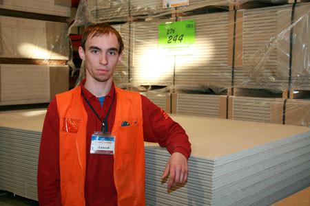 Алексей Белоусов, заведующий отделом стройматериалов гипермаркета СтройАрсенал