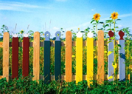 Деревянный забор и ограждения для дачи